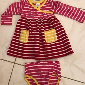 Hanna Andersson Striped Dress &Matching Panties 70